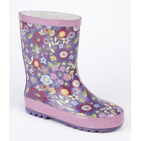 Childs Multi Printed Wellington Boots