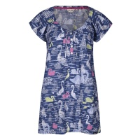 Lazy Jacks Swan Print Tunic