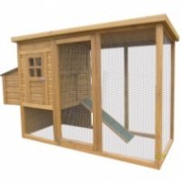 Poultry House with Nest Box & Run