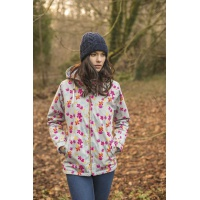 Lighthouse Faye Waterproof Jacket in Grey Floral