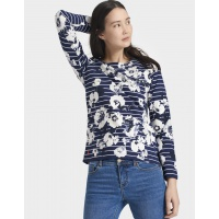 Joules Harbour Navy Posy Top