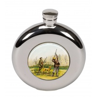 Shooting Round Hip Flask