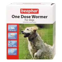 Beaphar One Dose Wormer for Large Dogs - 4 Tablets