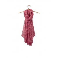 Joules Wensley Scarf in Coral Oyster Catcher