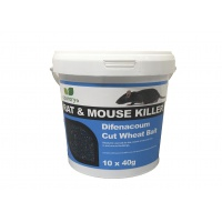 Country UF Rat & Mouse Killer Difenacoum Cut Wheat Bait 10x40g