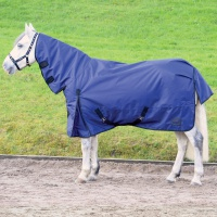 Masta Basic 200g Fixed Neck Turnout Rug Navy Blue