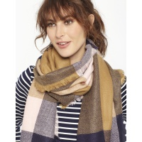Joules Berkley Scarf in Camel Check