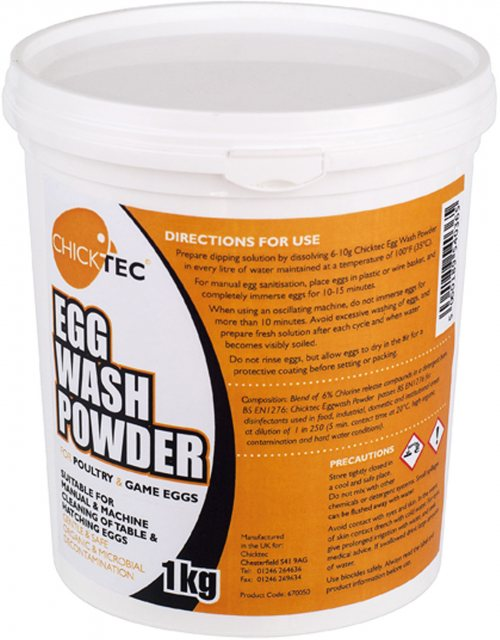 CHICKTEC EGG WASH POWDER 1KG