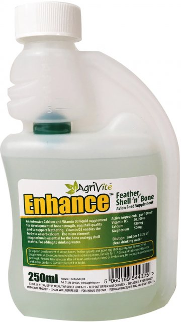 AGRIVITE ENHANCE FEATHER BONE & SHELL 250ML