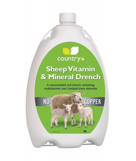 COUNTRY UF SHEEP DRENCH NO COPPER 5L
