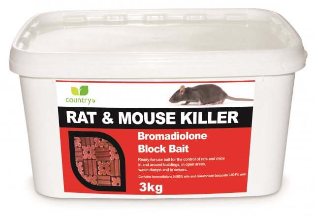 Country UF COUNTRY BROMADIOLONE BLOCK BAIT 3KG