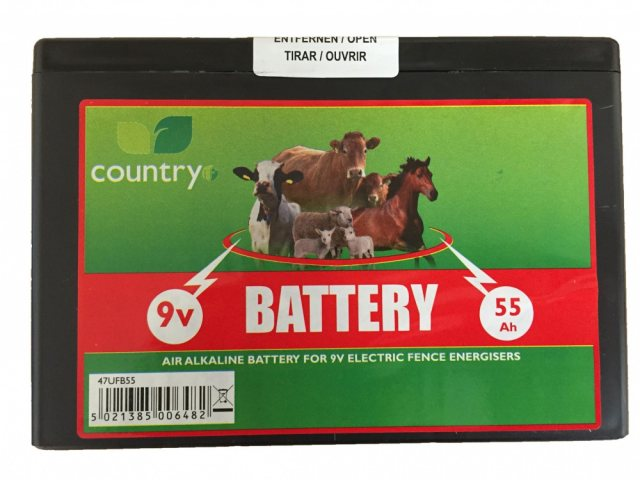 Country UF COUNTRY UF 9V 55AH BATTERY