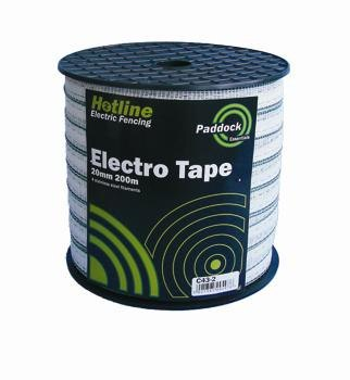 Hotline HOTLINE GREEN PADDOCK ELECTRIC TAPE 20MM X 200M