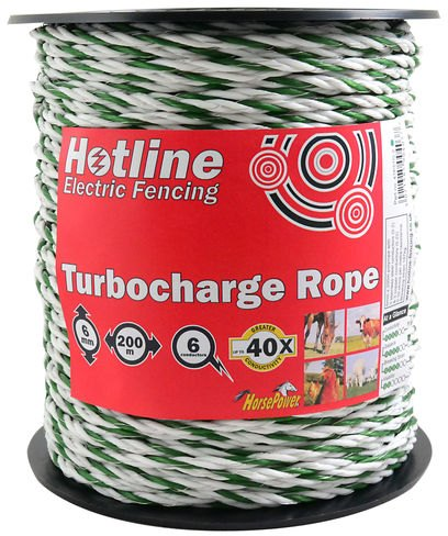 Hotline HOTLINE GREEN SUPERCHARGE ROPE 6MM X 200M