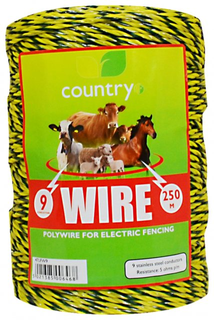 Country UF COUNTRY UF 9 STRAND WIRE 250M