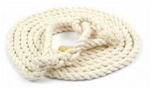 WHITE COTTON SHEEP HALTER  7MM