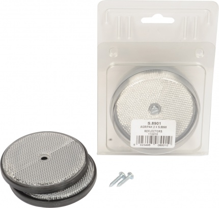 REFLECTOR ROUND CLEAR PACK 2