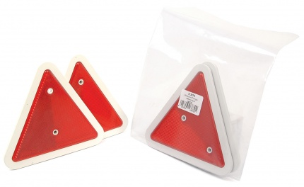 TRIANGLE RED REFLECTOR